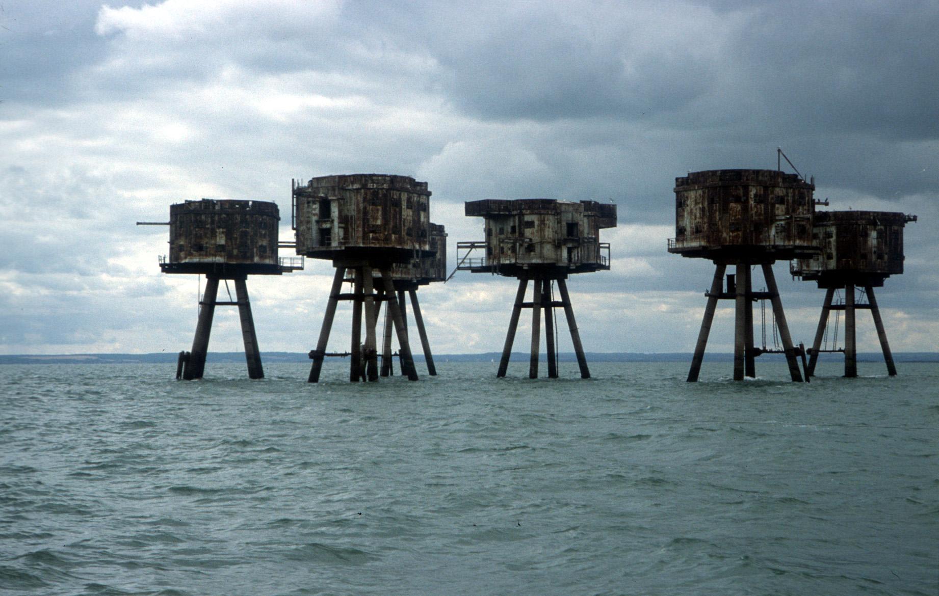 Thames Estuary Red Sands WWII war defence